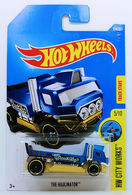 The Haulinator   Model Trucks   HW 2017 - Collector # 354/365 - HW City Works 5/10 - The Haulinator - Satin Blue - International Long Card