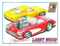 31st Collectors Convention Autograph Sheets | Posters & Prints | Hot Wheels 31st Annual Collectors Convention Larry Wood - 1958 and 1963 Corvette