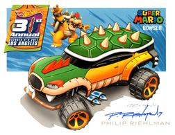 31st Collectors Convention Autograph Sheets | Posters & Prints | Hot Wheels 31st Annual Collectors Convention Philip Riehlman - Super Mario - Bowser