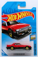 '82 Nissan Skyline R30 | Model Cars | HW 2018 - Collector # 006/365 - Factory Fresh 10/10 - '82 Nissan Skyline R30 - Red - International Long Card