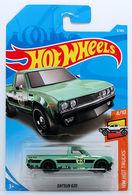 Datsun 620 | Model Trucks | HW 2018 - Collector # 009/365 - HW Hot Trucks 4/10 - Datsun 620 - Light Green - International Long Card