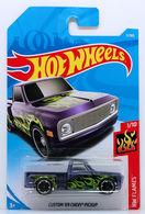 Custom '69 Chevy Pickup | Model Trucks | HW 2018 - Collector # 011/365 - HW Flames 1/10 - Custom '69 Chevy Pickup - Pearl Purple - International Long Card