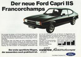 Der Neue Ford Capri IIS Francorchamps | Print Ads