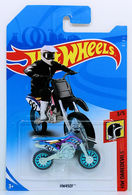HW450F | Model Motorcycles | HW 2018 - Collectors # NONE - HW Daredevils 3/5 - HW450F (Dirt Bike) - Black & Blue - International Long Card