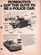 Plymouth's Got The Guts To Be A Police Car. | Print Ads