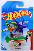 Mad Propz | Model Aircraft | HW 2018 - Collector # NONE - HW Daredevils 4/5 - Mad Propz - Green & Orange - International Long Card