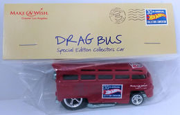 Drag Bus | Model Trucks | HW 2016 - 30th Annual Hot Wheels Convention - Make-A-Wish Charity Car - Drag Bus - Special Edition Collectors Car - Dark Red - Baggie Code 3