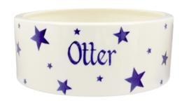 Personalised Starry Skies Large Pet Bowl | Ceramics | Personalised Starry Skies Large Pet Bowl