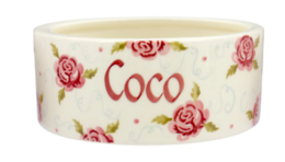 Tiny Scattered Rose Small Pet Bowl Personalised  | Ceramics | Personalised Tiny Scattered Rose Small Pet Bowl