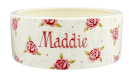 Tiny Scattered Rose Large Pet Bowl Personalised  | Ceramics | Tiny Scattered Rose Large Pet Bowl