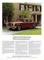 Looks Can Be Deceiving. This Is An Armored Car. | Print Ads