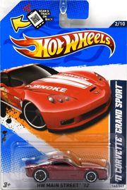 '11 Corvette Grand Sport   Model Cars   Hot Wheels 11 Corvette Grand Sport Error Missing side tampos