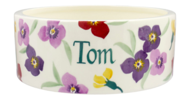 Wallflower Large Pet Bowl Personalised  | Ceramics | Wallflower Large Pet Bowl