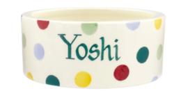 Polka Dot Small Pet Bowl Personalised | Ceramics | Polka Dot Small Pet Bowl
