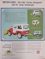 """Meyer Cabs ... The Only """"Owner Designed"""" Cab For 'Jeep' Universals 