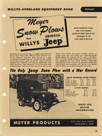Meyer Snow Plows For Willys Universal 'Jeep' | Print Ads