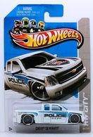 Chevy Silverado | Model Trucks | HW 2012 - Collector #184/247 - HW City / HW Main Street '12 - Chevy Silverado - White / 'Police City of Yuma' - USA '13 Card