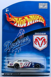 2001 Dodge Intrepid | Model Cars | HW 2001 - L.A. Dodgers Promo - 2001 Dodge Intrepid - Blue & White - Special Edition