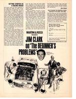 "Martini & Rossi Presents Jim Clark On ""The Beginner's Problems"" | Print Ads"