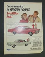 Come A-Running To Mercury Comet's 2nd Million Sale! | Print Ads
