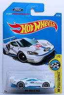 2016 Ford GT Race | Model Racing Cars | HW 2017 - Collector #247/365 - HW Speed Graphics 1/10 - 2016 Ford GT Race - White - International Long Card