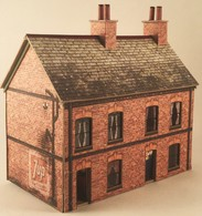 New Model Railway OO Gauge Downloadable Brick Terraced House Building Kit 4mm | Model Buildings and Structures | OO-3 Brick Houses £4.17 = C$6.99. The kit is based on a typical red brick terraced house found all over the British Isles in it's industrial towns and cities.