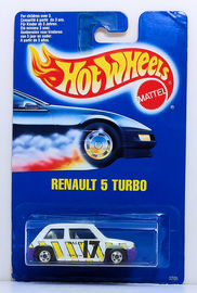 Renault 5 Turbo | Model Cars | HW 1991 - Toy # 3205 - Renault 5 Turbo - White - Canadian Issue Only - Blue Card