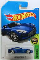 Aston Martin One-77 | Model Cars | HW 2017 - Collector # 287/365 - HW Exotics 7/10 - Aston Martin One-77 - Metallic Blue - International Long Card