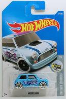 Morris Mini | Model Cars | HW 2017 - Collector #231/365 - HW Snow Stormers #2/5 - Morris Mini - Metalflake Sky Blue - International Long Card