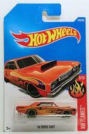 '68 Dodge Dart | Model Cars | HW 2017 - Collector #160/365 - HW Flames 8/10 - '68 Dodge Dart - Metallic Dark Orange - International Long Card