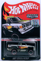 1987 Toyota Pickup | Model Trucks | HW 2017 - Walmart Rewards Mail-In - ZAMAC Edition - 1987 Toyota Pickup - Real Riders - with Factory Set Sticker