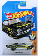 '67 Pontiac GTO | Model Cars | HW 2017 - Collector # 069/365 - Muscle Mania 8/10 - '67 Pontiac GTO - Black - USA Card with Factory Set Sticker