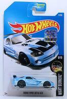 Dodge Viper SRT10 ACR | Model Cars | HW 2017 - Collector # 047/365 - Night Burnerz 8/10 - Dodge Viper SRT10 ACR - Sky Blue - USA Card with Factory Set Sticker