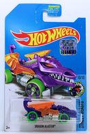 Dragon Blaster | Model Cars | HW 2017 - Treasure Hunt - Street Beast 10/10 - Dragon Blaster - Purple - USA Card with Factory Set Sticker