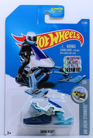 Snow Ride   Model Motorcycles   HW 2017 - Collector # 021/365 - HW Snow Stormers 3/5 - Snow Ride - White - USA Card with Factory Set Sticker