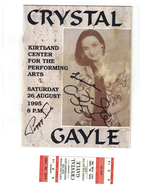 Crystal gayle and peggy sue%255bsister%257d 1995 concert program and ticket stub signed posters and prints 193fd894 ead8 45f0 8510 1ee5e1d82efa medium