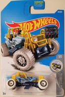 Mountain Mauler | Model Cars | HW 2017 - Collector #44/365 - HW Snow Stormers 5/5 - Mountain Mauler - Sky Blue - USA Factory Sealed Card