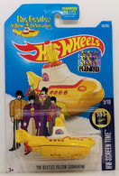 The Beatles Yellow Submarine | Model Ships and Other Watercraft | HW 2017 - Collector # 049/365 - HW Screen Time 5/10 - The Beatles Yellow Submarine - USA Card with Factory Set Sticker