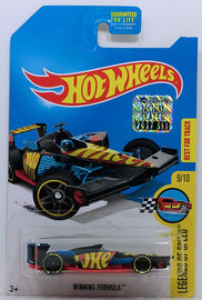 Winning Formula | Model Racing Cars | HW 2017 - Treasure Hunts - Legends of Speed 9/10 - Winning Formula - Matte Black - USA Card with Factory Set Sticker