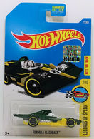 Formula Flashback | Model Racing Cars | HW 2017 - Collector # 071/365 - Legends Of Speed 7/10 - Formula Flashback - Dark Green - USA Card with Factory Set Sticker