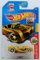 16 Angels | Model Cars | HW 2017 - Collector # 052/365 - Holiday Racers 2/5 - 16 Angels - Gold - USA Card with Factory Set Sticker