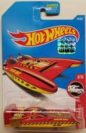 H2GO | Model Ships and Other Watercraft | HW 2017 - Collector # 084/365 - HW Rescue 8/10 - H2GO - Red - USA Card with Factory Set Sticker