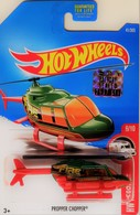 Propper Chopper | Model Aircraft | HW 2017 - Collector # 041/365 - HW Rescue 6/10 - Propper Chopper - Green - USA Card with Factory Set Sticker