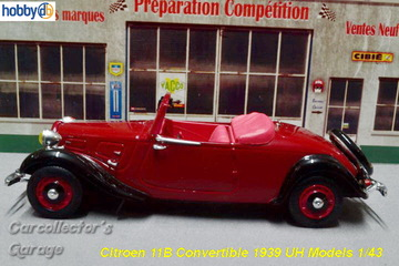 Citroën 11B Convertible 1939 | Model Cars
