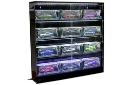 Wall Mounted LED Collectible Display Showcase with Lights | Display Cases