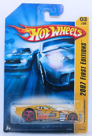 Nitro Doorslammer | Model Cars | HW 2007 - Collector # 003/156 - First Editions 3/36 - Nitro Doorslammer - Gold - International Long Card