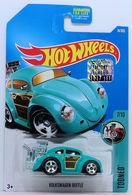 Volkswagen Beetle | Model Cars | HW 2017 - Collector # 074/365 - Tooned 7/10 - Volkswagen Beetle - Turquoise - USA Card with Factory Set Sticker