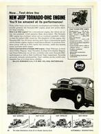 Now ... Test Drive The New 'Jeep' Tornado-OHC Engine You'll Be Amazed At Its Performance! | Print Ads
