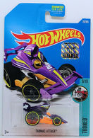 Tarmac Attack | Model Cars | HW 2017 - Collector # 029/365 - Tooned 9/10 - Tarma Attack - Purple - USA Card with Factory Set Sticker