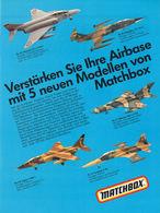 Verstärken Sie Ihre Airbase mit 5 neuen Modellen von Matchbox | Print Ads